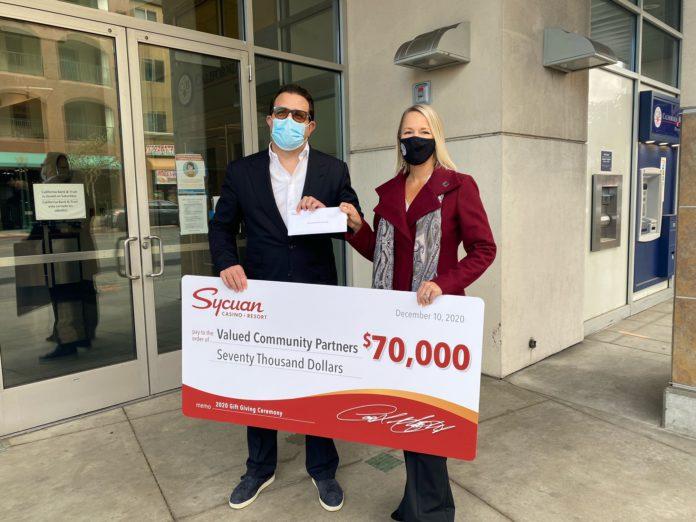 Sycuan Casino Resort Donation