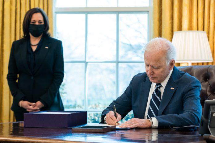 Joe Biden American Rescue Plan Signing
