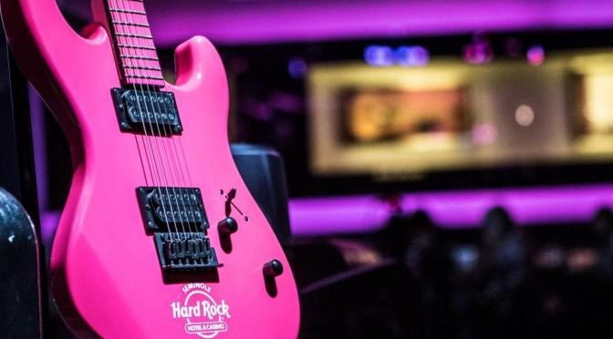 Seminole Hard Rock Pinktober fender